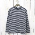 nanamica『COOLMAX® St.Jersey L/S Tee』(Heather Gray×Charcoal)