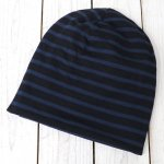 ENGINEERED GARMENTS『Long Beanie-St.20oz French Terry』(Black/Navy)