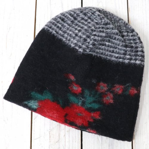 『Long Beanie-Floral Glen Knit』