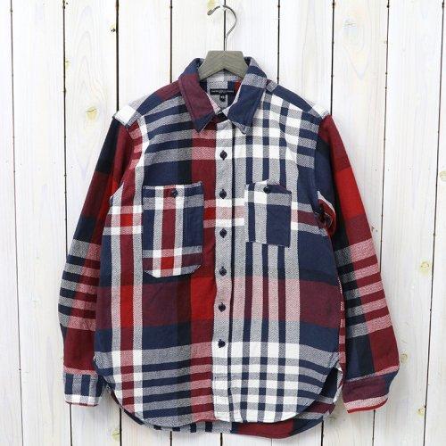 『Work Shirt-Heavy Twill Plaid』(Navy/Red/White)