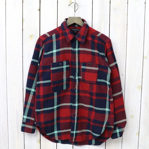 『Work Shirt-Heavy Twill Plaid』(Red/Navy/Teal)
