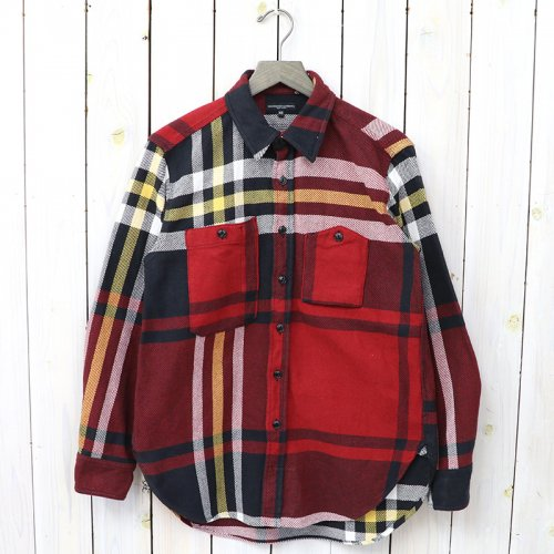 『Work Shirt-Heavy Twill Plaid』(Black/Red/Yellow)
