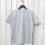 LACOSTE『ポケットTシャツ(半袖)』(ライトグレー)