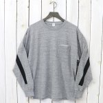 Kaptain Sunshine『Weat Coast Long Sleeved Tee』(Feather Grey/Black Line)