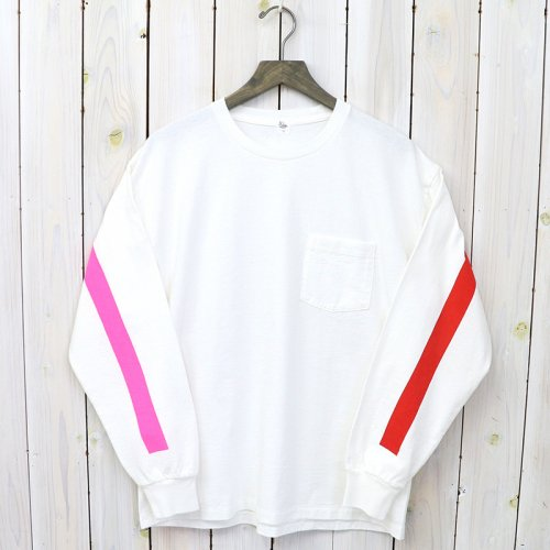 『Weat Coast Long Sleeved Tee』(White/Red&Pink Line)