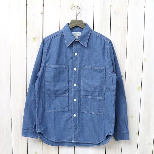 『PRUNER LEAF HALF(5oz CHAMBRAY)』(BLUE)