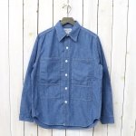 SASSAFRAS『PRUNER LEAF HALF(5oz CHAMBRAY)』(BLUE)