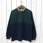 THE NORTH FACE PURPLE LABEL『Big Rugby Shirt』(Green×Navy)