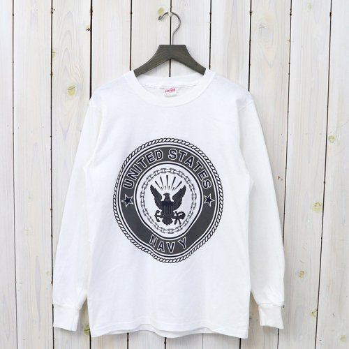 【SALE特価70%off】MILITARY DEAD STOCK『U.S.NAVY Long Sleeve Tee』(White)