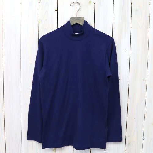 『MOCK NECK TEE L/S』(Blue)