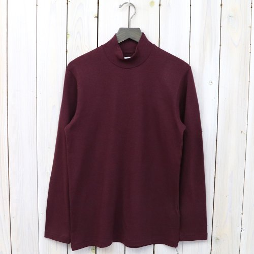 『MOCK NECK TEE L/S』(Wine)