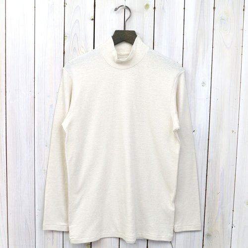 ANATOMICA『MOCK NECK TEE L/S』(Natural)