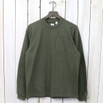 【SALE特価40%off】ANATOMICA『POCKET TEE L/S』(Green)