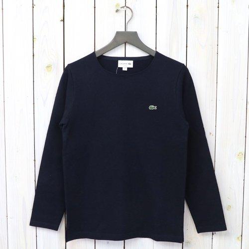 『コットンピケバスクTシャツ(長袖)』(ネイビー)