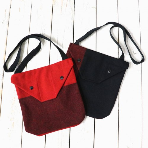 『Shoulder Pouch-Big Plaid Wool Melton』