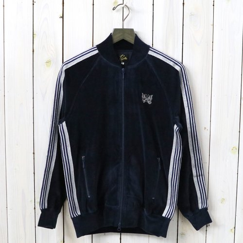 『Rib Collar Track Jacket-C/Pe Velour』(Navy)