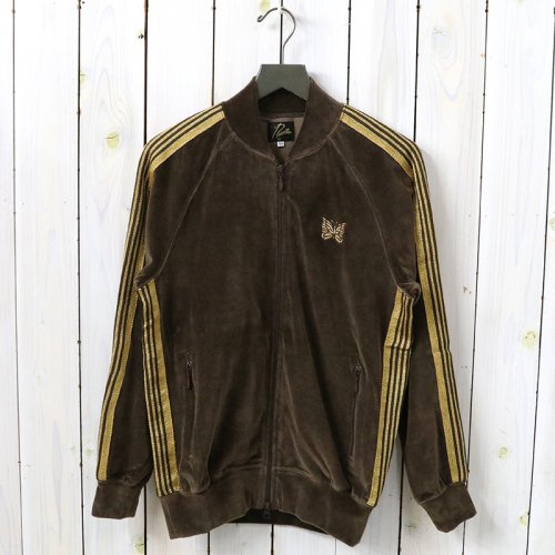 『Rib Collar Track Jacket-C/Pe Velour』(Brown)