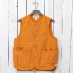 SASSAFRAS『WHOLE HOLE VEST(60/40)』(ORANGE)