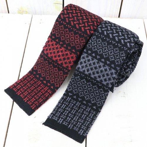 『Knit Tie-Ethnic Jacquard』