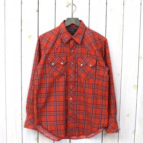 『Sawtooth Western Shirt-Brushed Printed Plaid Flannel』(Orange)