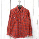ENGINEERED GARMENTS『Sawtooth Western Shirt-Brushed Printed Plaid Flannel』(Orange)