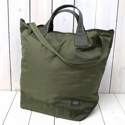 『Quilting Military Nylon Tote SMALL Made by PORTER』(OLIVE)