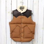 WAREHOUSE×ROCKY MOUNTAIN FEATHERBED『NYLON CHRISTY VEST』(BROWN)