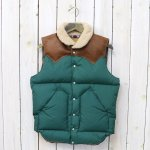 WAREHOUSE×ROCKY MOUNTAIN FEATHERBED『NYLON CHRISTY VEST』(PINE GREEN)