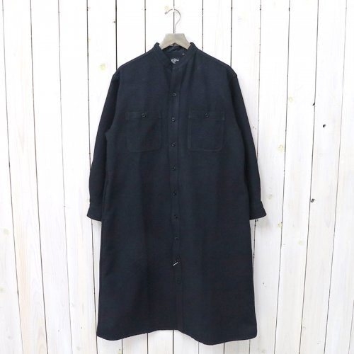 『STAND COLLAR LONG SLEEVE SHIRTS』(NAVY)