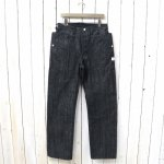 SASSAFRAS『FALL LEAF R STREAM PANTS(14oz DENIM)』(BLACK)