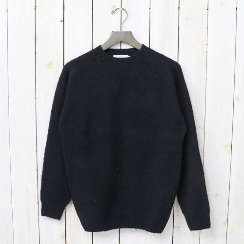 『SEAM FREE HEAVY BRUSH CREW NECK SADDLE SHOULDER P/O』(BLACK)