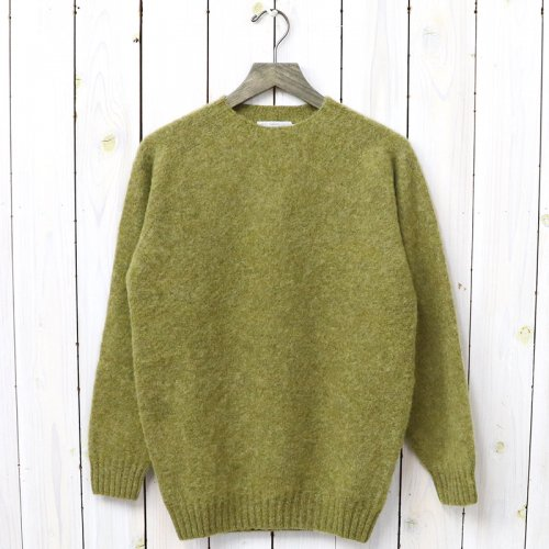 John Tulloch『SEAM FREE HEAVY BRUSH CREW NECK SADDLE SHOULDER P/O』(ASPARAGUS)