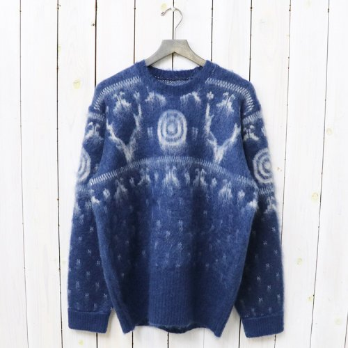 『Loose Fit Sweater-Mohair/Nordic』(Navy)