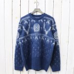 SOUTH2 WEST8『Loose Fit Sweater-Mohair/Nordic』(Navy)