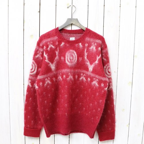 『Loose Fit Sweater-Mohair/Nordic』(Red)