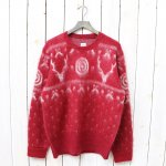 SOUTH2 WEST8『Loose Fit Sweater-Mohair/Nordic』(Red)