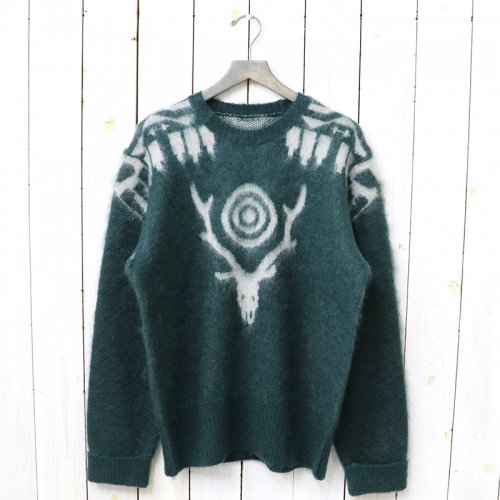 『Loose Fit Sweater-Mohair/Aztec』(Green)