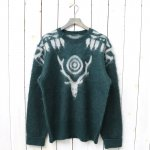 SOUTH2 WEST8『Loose Fit Sweater-Mohair/Aztec』(Green)