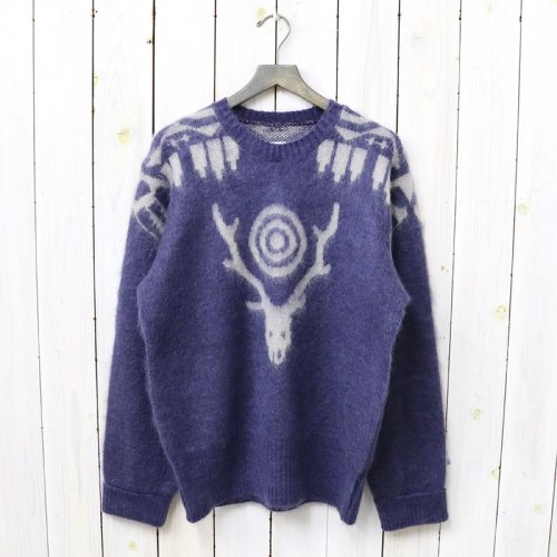 『Loose Fit Sweater-Mohair/Aztec』(Purple)