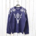 SOUTH2 WEST8『Loose Fit Sweater-Mohair/Aztec』(Purple)