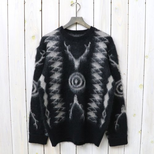 『Loose Fit Sweater-Mohair/Native』(Black)
