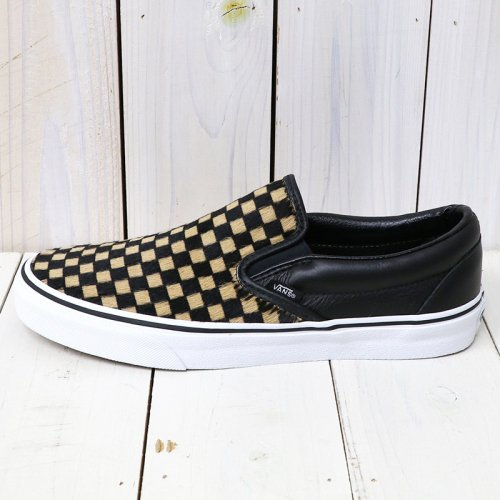 VANS『CLASSIC SLIP-ON』((CALF HAIR)CHECKERBOARD/TRUE WHITE)