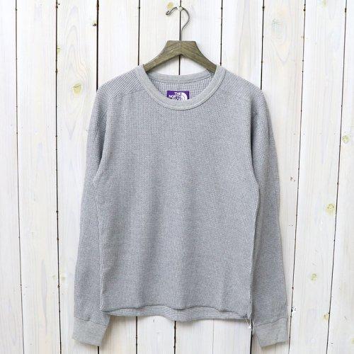 『Crew Neck Thermal Shirt』(Mix Gray)