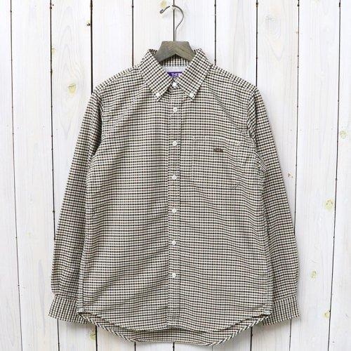 『Cotton Polyester OX Check B.D Shirt』(Brown)