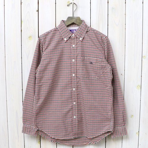『Cotton Polyester OX Check B.D Shirt』(Red)