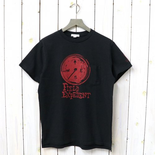 『Printed Cross Crew Neck T-shirt-Compass』(Red)