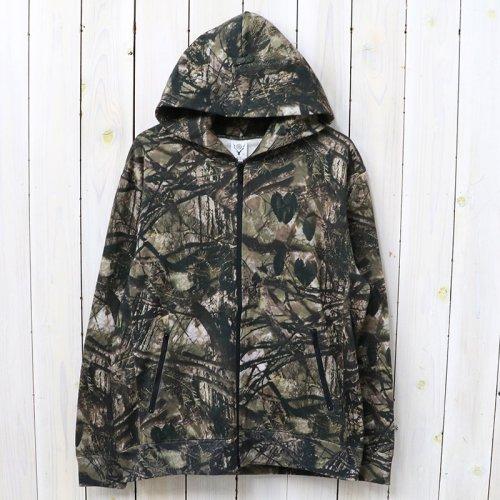 『Zipped Sweat Hoody-Real Tree/Cotton Jersey』(Khaki)