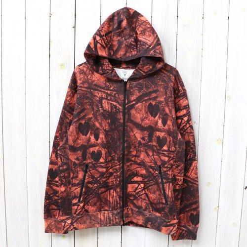 『Zipped Sweat Hoody-Real Tree/Cotton Jersey』(Orange)
