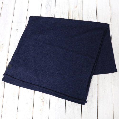 『KNIT JERSEY SCARF』(NAVY HEATHER)