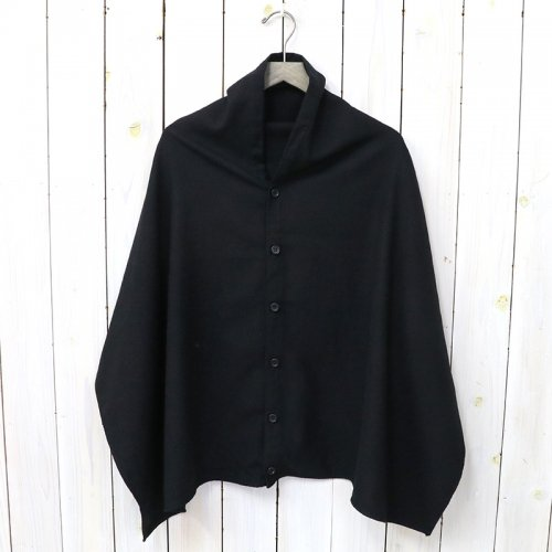 『Button Shawl-Worsted Wool Flannel』(Black)
